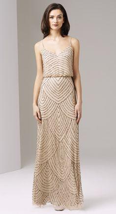 Style#: 091866700             Colors: CHAMPAGNE             Description: Long Blouson Dress             Size: 6             Size Range: 2-16