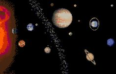 The Solar System Counted Cross Stitch Pattern PDF by robinsdesign
