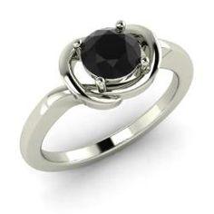 laRings - Viera - Black Diamond Ring in 14k White Gold (0.5 ct.tw.)