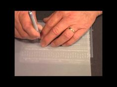 ▶ Parchment Craft-PCA 30 Fine Perforating/Punch Tools LineGuide - YouTube