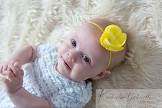 Yellow flower headband for infant girls perfect by MissDaintyHQ, $9.00