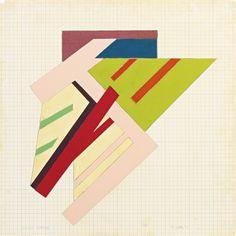 thunderstruck9:  Frank Stella (American, b. 1936), Lipsko (Sketch), 1973. Acrylic, felt and fabric collage on cardboard mounted on masonite, 75.6 x 76.2 cm. viajimlovesart