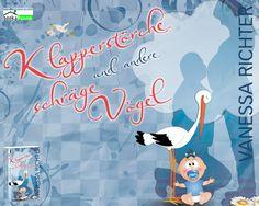 """""""Klapperstörche und andere schräge Vögel"""" von Vanessa Richter ab Oktober 2014 im bookshouse Verlag. www.bookshouse.de/wallpapers/"""