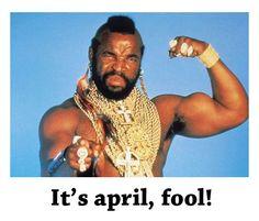 It's april, fool! B.A. takes april fools a bit too seriously.