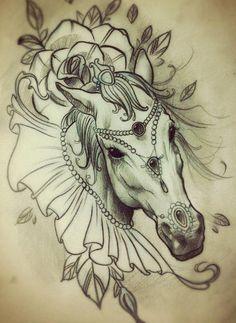 Hot Tattoos: 30+ Elegant Horse Tattoo Flash