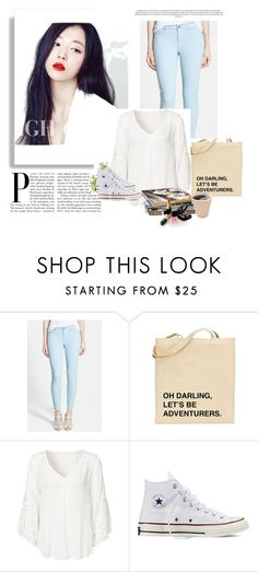 """..."" by dzenana11 ❤ liked on Polyvore featuring Paige Denim, Converse, Nearly Natural and Chanel"