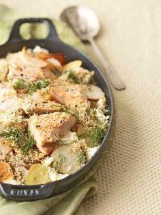 Potato Salmon Bake  Recipe