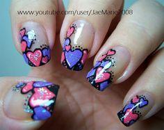 Valentine's nail art www.saturnostore.com