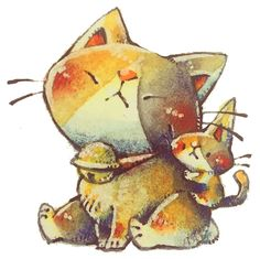 hachiware brother and by frankenji on DeviantArt Watercolor Cat, Bowser, Kitten, Deviantart, Cats, Fictional Characters, Cute Kittens, Kitty, Gatos
