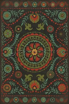 Spicher and Company Vintage Vinyl Floor Cloths State Of Mind Rugs | Rugs Direct