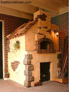 Oh, to have a wood fired oven in my dream kitchen!