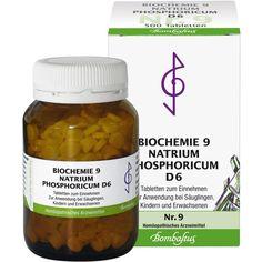 BIOCHEMIE 9 Natrium phosphoricum D 6 Tabletten:   Packungsinhalt: 500 St Tabletten PZN: 01073797 Hersteller: Bombastus-Werke AG Preis:…
