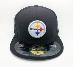PITTSBURGH STEELERS NFL ON FIELD NEW ERA 59 FIFTY FITTED HAT/CAP (SIZE 8) -- NEW #NEWERA59FIFTY #PittsburghSteelers