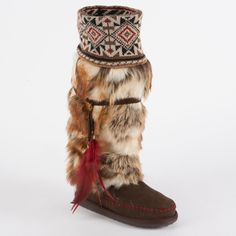 Have to have it. MUK LUKS Lola - Tall Faux Fur Boot with Knit Cuff