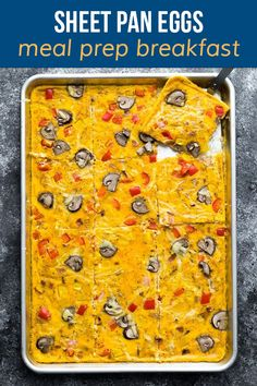 Cook breakfast for a crowd with these sheet pan eggs! Prepare them in minutes, customize with your favorite toppings, and sit back and relax while the oven does the hard work. Nutritious Breakfast, Savory Breakfast, Low Carb Breakfast, Healthy Breakfast Recipes, Breakfast Meals, Breakfast Time, Healthy Food, Healthy Recipes, Overnight Breakfast Casserole