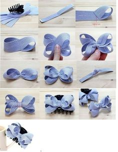 This pin was discovered by tam – Artofit How to make ribbon bow? 8 tips to make a 5 inch hair bow. Bows for Allie Back To School Cards with Bow Tutorial by Mendi Yoshikawa Yoshikawa - Salvabrani Discover thousands of images about Lace and ribbon hair b Ribbon Hair Bows, Diy Hair Bows, Diy Bow, Satin Ribbon Roses, How To Make Hair, How To Make Bows, Baby Bows, Baby Headbands, Cheap Valentines Day Gifts
