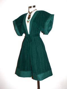 Vintage NORMA KAMALI Jumpsuit Green Corduroy by StatedStyle