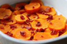 Scalloped sweet potatoes.