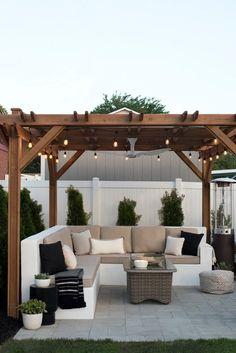 Pergola DIY Attached To House Design - Pergola Shade Screen - - Outdoor Patio Designs, Small Backyard Design, Small Backyard Patio, Pergola Designs, Outdoor Decor, Patio Ideas, Backyard Ideas, Diy Patio, Pergola Ideas