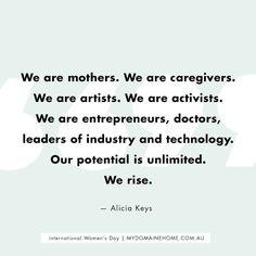 Alicia Key's Women's March quote