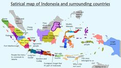 1940s map of sulawesi celebes indonesia historical world atlas satirical map of indonesia and its surrounding countries gumiabroncs Images