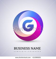G letter colorful logo in the circle. Vector design template elements for your application or corporate identity. - stock vector