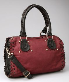 Take a look at this Wine Amira Satchel by Imoshion on #zulily today!