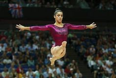 London 2012: Alexandra Raisman of the U.S. performs on the balance beam during the women's individual all-around gymnastics final in the North Greenwich Arena on Aug 2, 2012.
