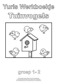 Yurls werkboekje Tuinvogels met 17 werkbladen