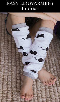 Easy Legwarmers Tutorial #DIY #handmade #crafts #sewing