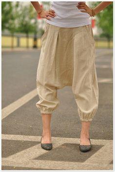 Weekends/Womens Clothing Womens Pants Pants Casual Pants Loose Pants Plus size Pants Harem Pants Drop Crotch Pants Black Capris KL012P