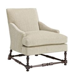 Maud Lounge Chair with Turned Stretchers from the Hartwood collection by Hickory Chair Furniture Co.