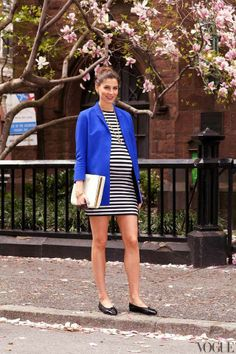 I want pretty: Look- #Outfits con estilo para #embarazadas / Stylish #maternity outfits! / #stripes
