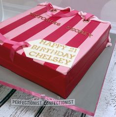 Victorias Secret Birthday Cake. The Perfectionist Confectionist, Dublin.
