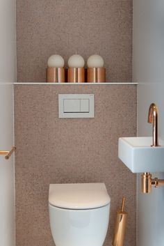 Grey Kitchen Floor, Kitchen Flooring, Tiny Bathrooms, Small Bathroom, Wc Decoration, Downstairs Toilet, Master Room, Toilet Design, Home Reno