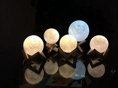 Sleep with moonlight every night with the 3D printed moon nightlight. A cool idea 3d print a moon add some light magic and you got a million dollar idea. #3dprintingideas