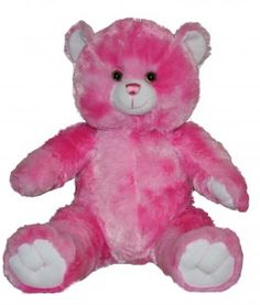 "Singing 16"" plush Pink and White Teddy Bear which plays custom music featuring your child's name."