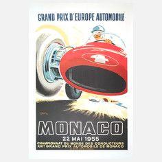 Monaco Grand Prix 1955 - #JeanRamel #MonacoGrandPrix #Sports #Monaco