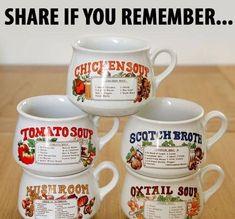 1980s Childhood, Childhood Days, Soup Mugs, Soup Bowls, 90s Nostalgia, 80s Kids, Good Ole, Travel Memories, The Good Old Days