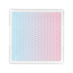 Hot Pink Blue Gradient Oval Pattern Square Serving Trays #pink #blue #pattern #oval #gradient #girly #trendy #white #oudeen #geometric #aztec #abstract #colorful #modern #whimsical #accessories #design #gift