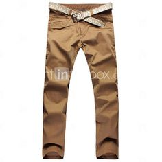 los hombres pantalones casuales silvestres lavadas