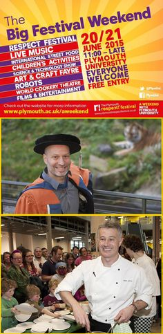 18 June 2015 | Dartmoor Zoo owner Benjamin Mee, and celebrity chef Peter Gorton, prepare to wow audiences at Plymouth University's Big Festival Weekend, 20 - 21 June. https://www.plymouth.ac.uk/news/dartmoor-zoo-owner-and-celebrity-chef-prepare-to-wow-audiences