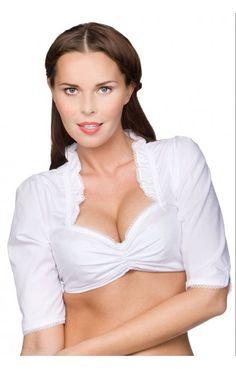German Traditional dirndl blouse B1015 white
