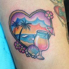 Tropical tattoo @carlykroll