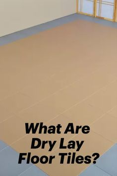 Dry lay floor tiles are types of tiles that do not need any adhesive to complete the installation. These types of tiles often pop together with an interlocking system, which keeps the tiles fastened without the need for gluing. The install process for this type of tile goes fast and requires little to no experience with flooring installations. Plastic Mat, Industrial Flooring, Basement Flooring, Tile Floor, Adhesive, Tiles, Pop, Room Tiles, Popular