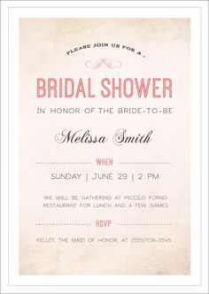 Free Bridal Shower Printable Invitations  Visit Www