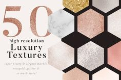 50 luxury gold & marble textures by Laras Wonderland on @creativemarket