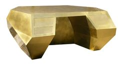 Brass Suprematist Desk ... if world domination is your thing, this is your desk.  Muaahahaha !