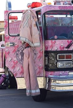 On the roll to fight cancer: Pink fire truck coming to Manhattan rodeo . Breast Cancer Survivor, Breast Cancer Awareness, Pink Truck, Go Pink, I Believe In Pink, Pink Power, Everything Pink, Fire Trucks, My Favorite Color