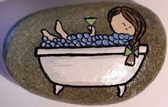 Ahhhh rest & relaxation!  This is hand painted and sealed with an indoor/outdoor glaze.  Approximate measurements:6 x 4